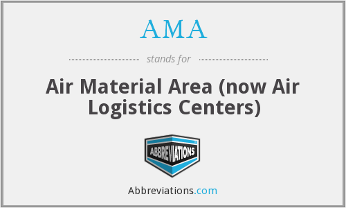 AMA - Air Material Area (now Air Logistics Centers)