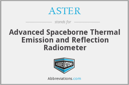 ASTER - Advanced Spaceborne Thermal Emission and Reflection Radiometer
