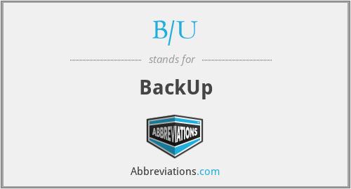 B/U - BackUp