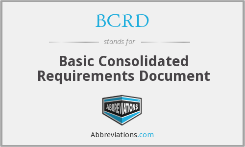 What does BCRD stand for?