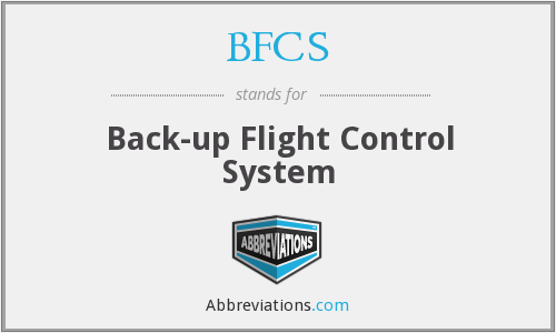 BFCS - Back-up Flight Control System