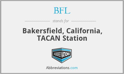 BFL - Bakersfield, California, TACAN Station