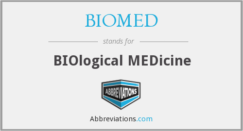 What does BIOMED stand for?