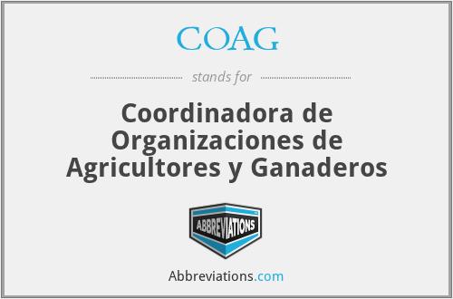 COAG - Coordinadora de Organizaciones de Agricultores y Ganaderos