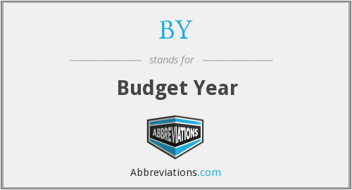 BY - Budget Year