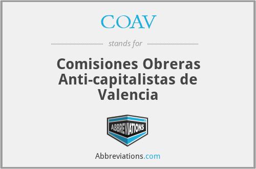 COAV - Comisiones Obreras Anti-capitalistas de Valencia