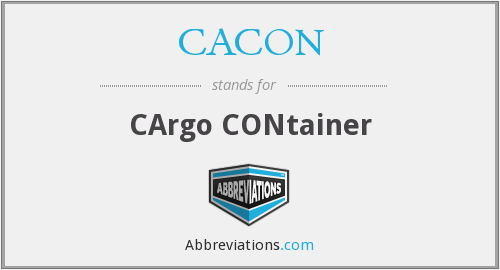 What does CACON stand for?