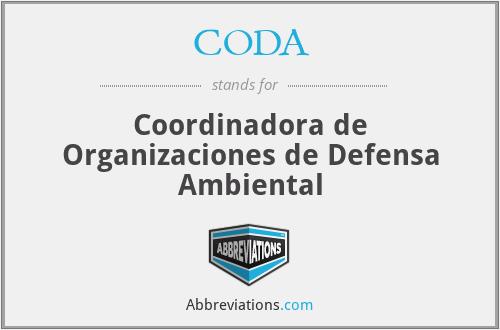 CODA - Coordinadora de Organizaciones de Defensa Ambiental