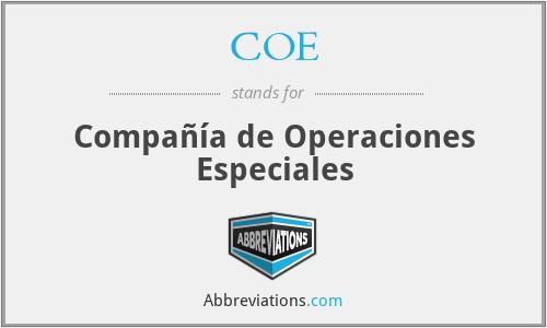 COE - Compañía de Operaciones Especiales