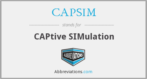 What does CAPSIM stand for?