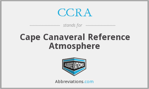 CCRA - Cape Canaveral Reference Atmosphere