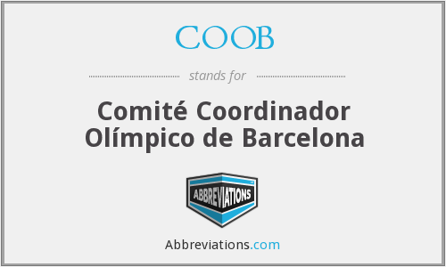 What does COOB stand for?