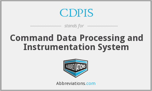 CDPIS - Command Data Processing and Instrumentation System