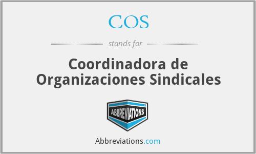 COS - Coordinadora de Organizaciones Sindicales