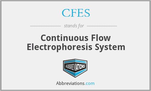 CFES - Continuous Flow Electrophoresis System