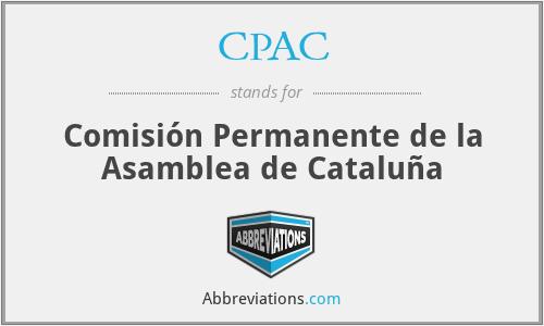 CPAC - Comisión Permanente de la Asamblea de Cataluña