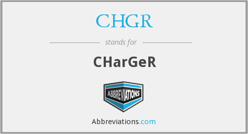 What does CHGR stand for?