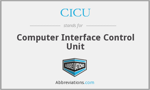 CICU - Computer Interface Control Unit