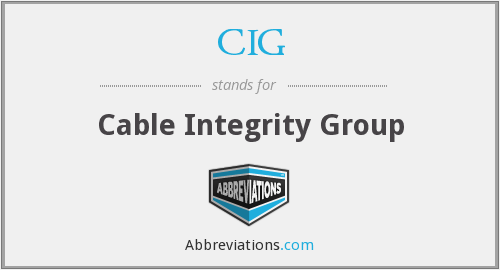 CIG - Cable Integrity Group