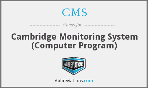CMS - Cambridge Monitoring System (Computer Program)