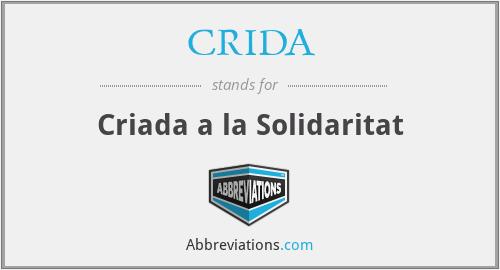 CRIDA - Criada a la Solidaritat