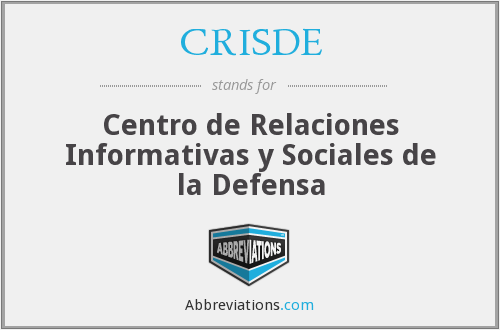 What does CRISDE stand for?