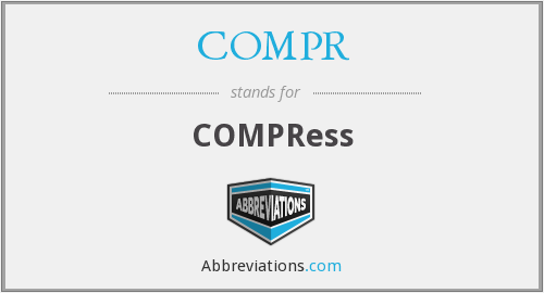 What is the abbreviation for compress?