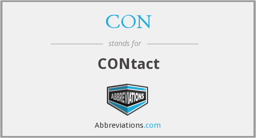 What is the abbreviation for CONtact?