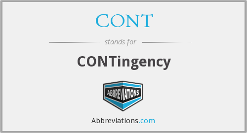 CONT - CONTingency