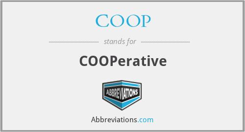 COOP - COOPerative