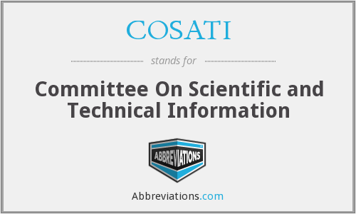 COSATI - Committee On Scientific and Technical Information