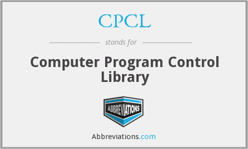 CPCL - Computer Program Control Library