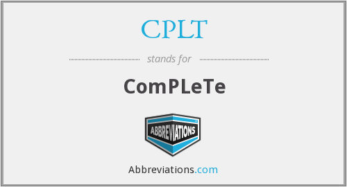 What does CPLT stand for?