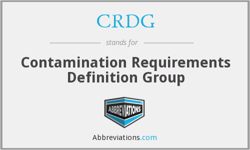 What does CRDG stand for?