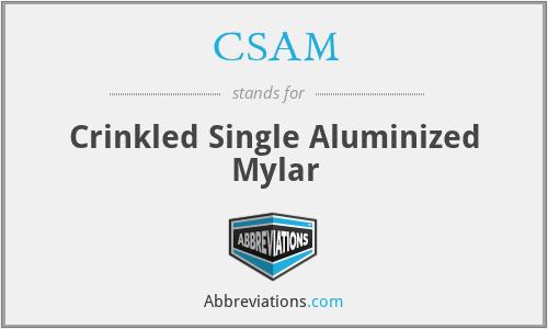 CSAM - Crinkled Single Aluminized Mylar