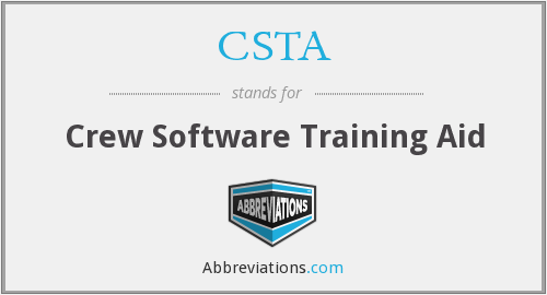 CSTA - Crew Software Training Aid