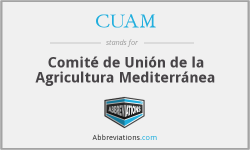 What does CUAM stand for?