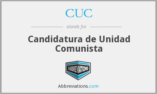 CUC - Candidatura de Unidad Comunista