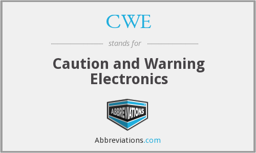 CWE - Caution and Warning Electronics