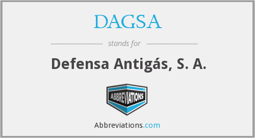 DAGSA - Defensa Antigás, S. A.