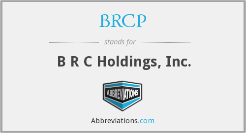 What does BRCP stand for?