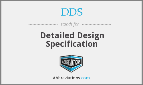 DDS - Detailed Design Specification