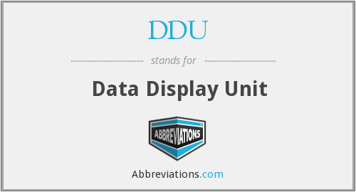 DDU - Data Display Unit