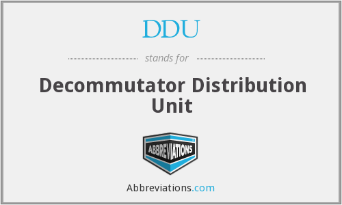 DDU - Decommutator Distribution Unit