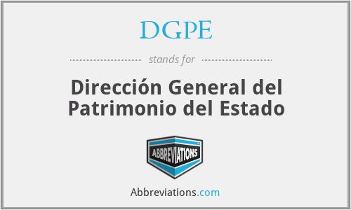 DGPE - Dirección General del Patrimonio del Estado