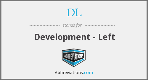 DL - Development - Left