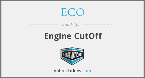 ECO - Engine CutOff