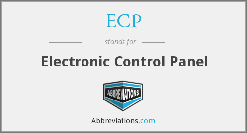 ECP - Electronic Control Panel