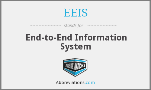 EEIS - End-to-End Information System