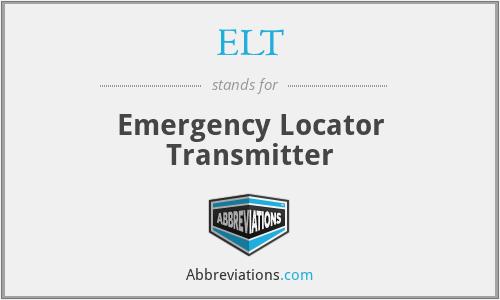 ELT - Emergency Locator Transmitter